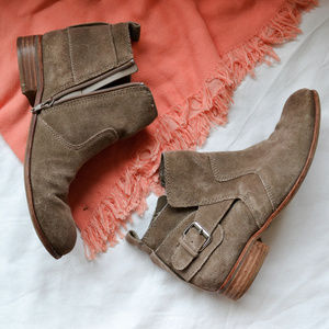Dolce Vita Tan Suede Booties with Buckle